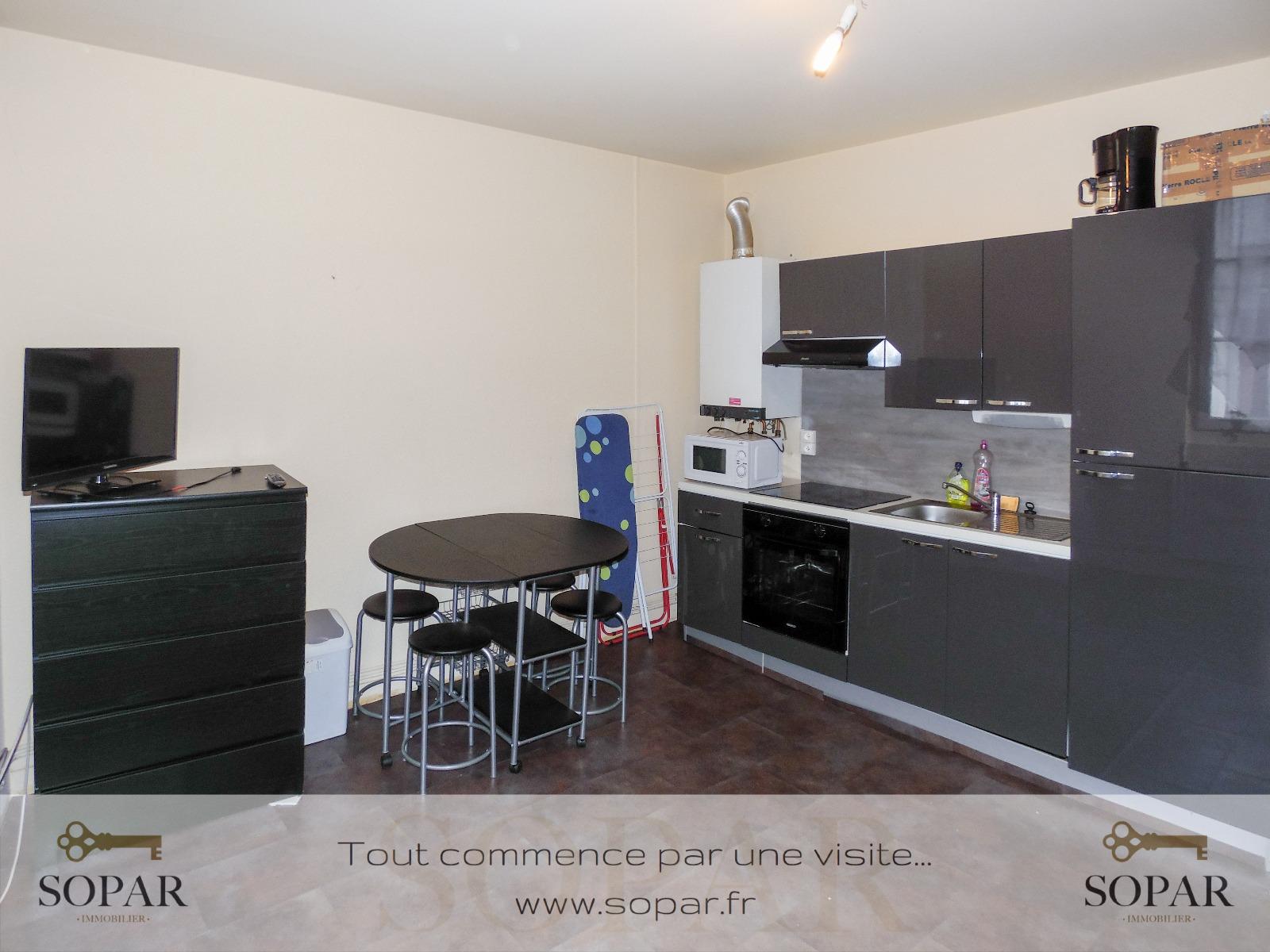 location hypercentre studio meubl 22m. Black Bedroom Furniture Sets. Home Design Ideas